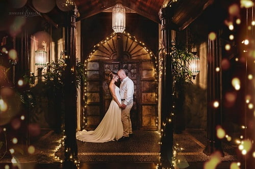 whitsunday wedding venue with twinkling string lights at Villa Botanica - Destination Wedding Planner at Queensland